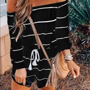 Other - Off  the shoulder Romper that's super cute! ❤️